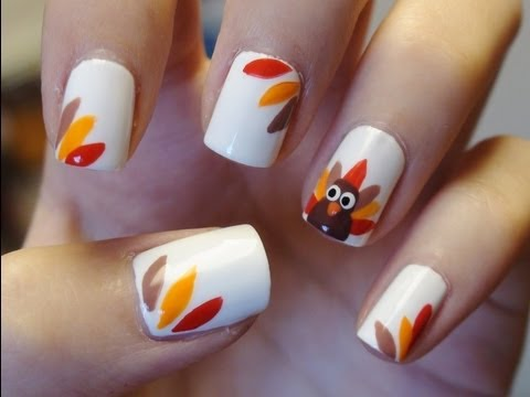 Easy Thanksgiving Turkey Nails Youtube