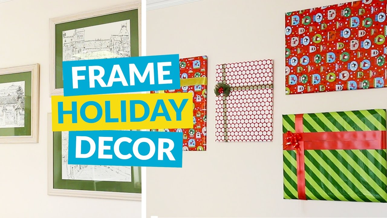 f491228737b9 Transform Your Picture Frames Into Holiday Present Decor! - YouTube