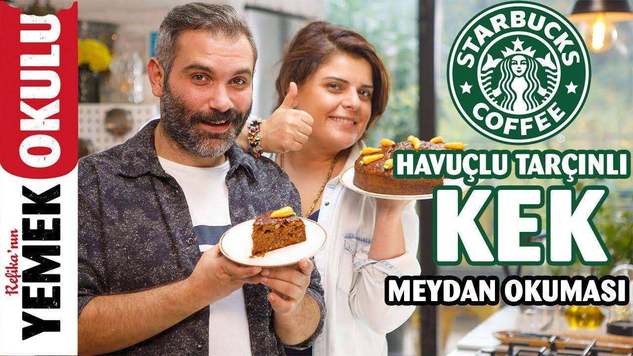 Starbucks Havuçlu Kek (Challenge) Meydan Okuması | Havuçlu Tarçınlı Kek Tarifi