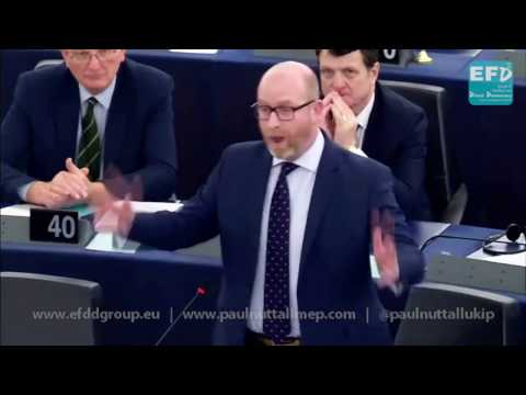 You are fiddling whilst the Treaty of Rome burns - UKIP Leader Paul Nuttall MEP