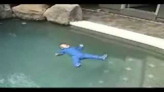 Baby Swimming Survival Video