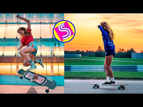 🛹 Longboard Girls Dancing - Best Longboarding Skills Compilation 2020