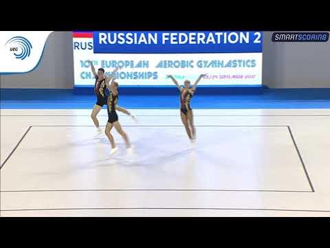 SOLOVEV, DZHANAZIAN & OSTAPENKO (RUS) - 2017 Aerobics European silver medallists, trios