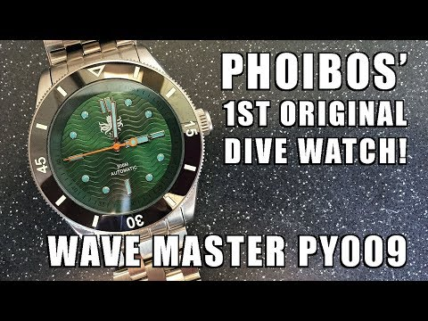 FIRST ORIGINAL Phoibos Design! Wave Master PY009A Automatic Dive Watch Review - Perth WAtch #110
