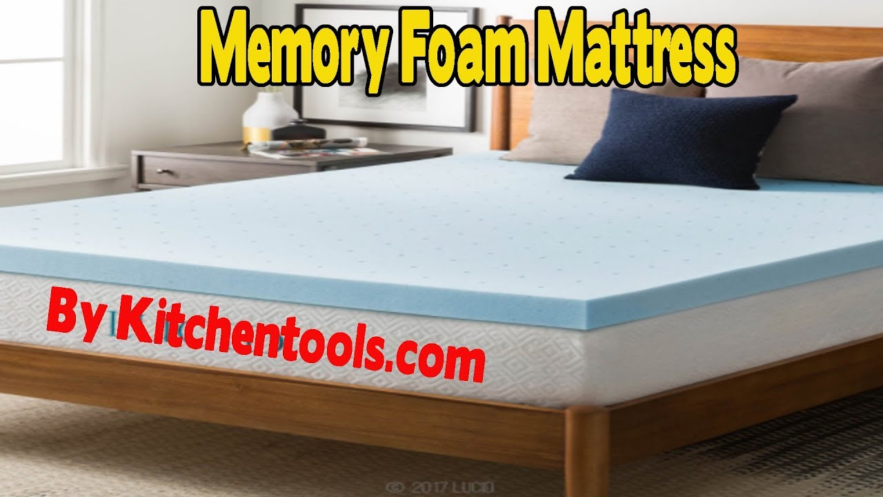 Lucid 3 Inch Gel Memory Foam Mattress Youtube
