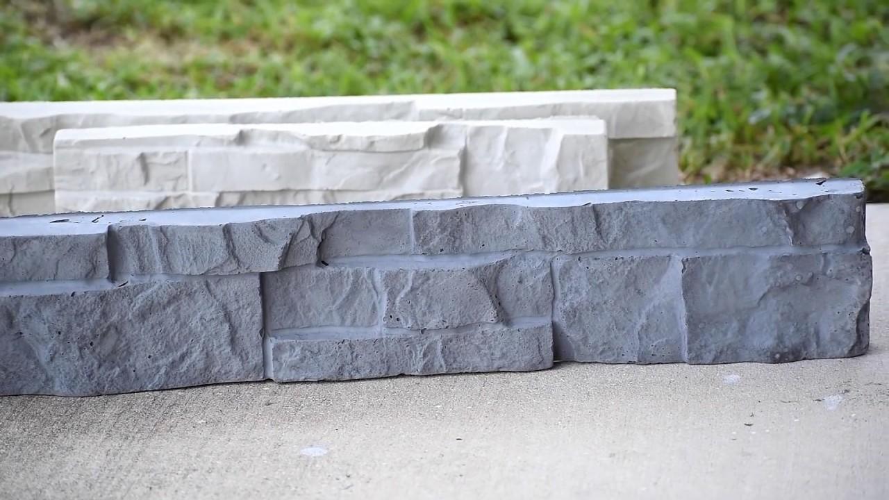 Cómo Hacer Piedras Apiladas De Hormigón Pared De Concreto Casera Youtube