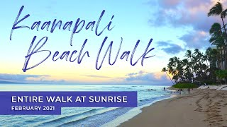 Download Relaxing Kaanapali Maui Sunrise Beach Walk | February 2021