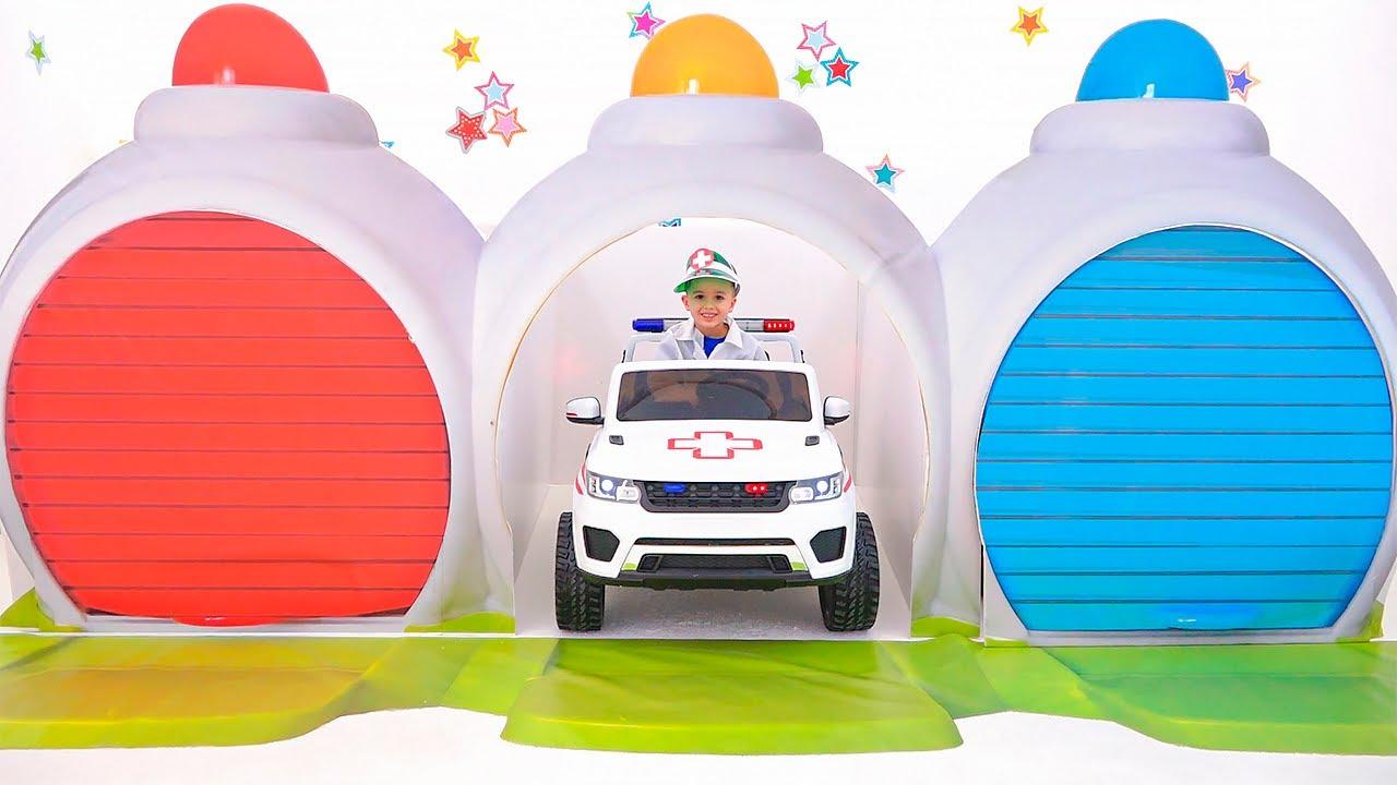 장난감 자동차와 아이의 이야기 - 블라드는 도시 영웅 하루 저장된다