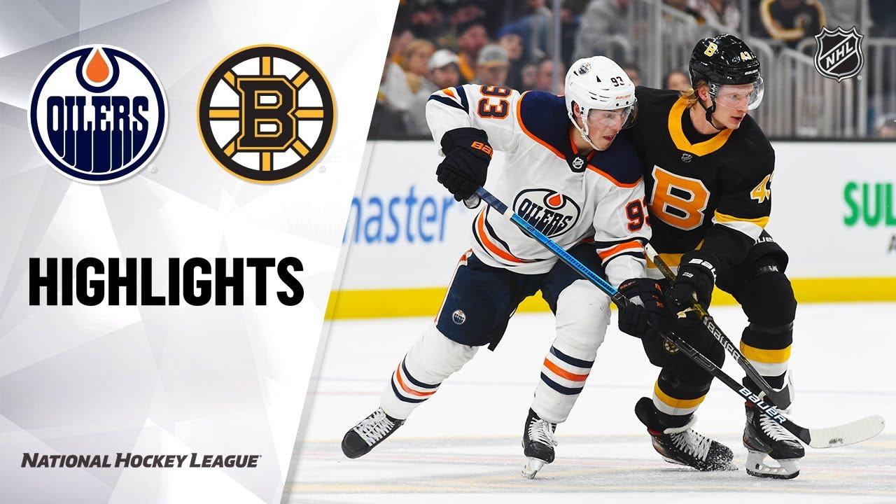 NHL Highlights | Oilers @ Bruins 01/04/20