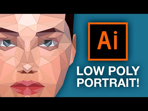 Illustrator Tutorial: Low Poly Portrait!