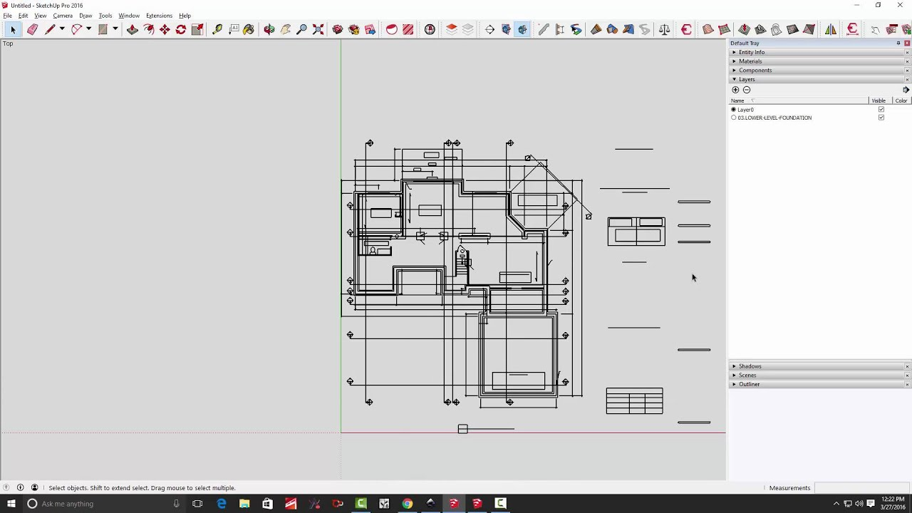 Part 1 converting pdf drawings for use in sketchup youtube for Turn floor plan into 3d model