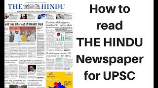 How to read The Hindu newspaper for UPSC 2019 - Explained by Dr Gaurav Garg