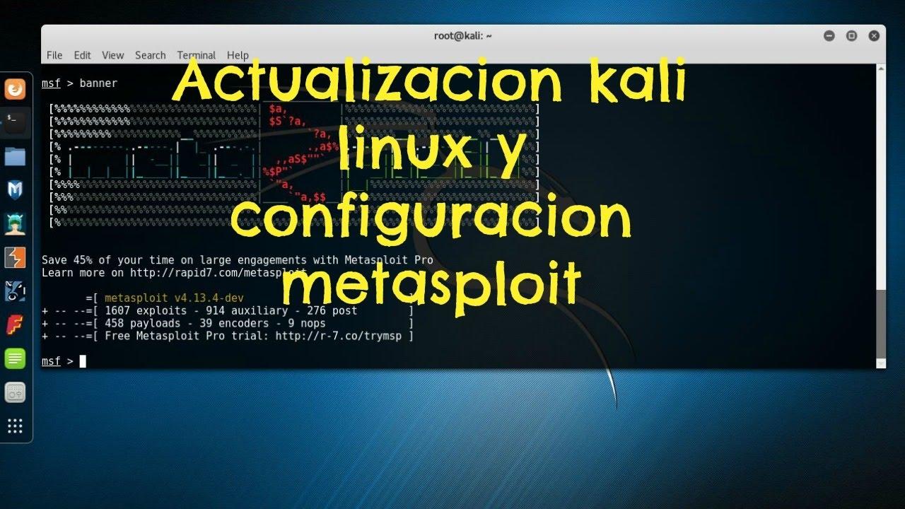 metasploit pour kali linux