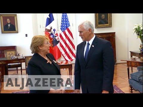 Venezuela crisis tops US Vice President Pence's agenda in Chile
