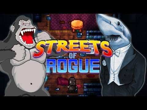 ОБЕЗЬЯНА С ГРАНАТОЙ, АКУЛА С АВТОМАТОМ! ► Streets of Rogue   кооператив