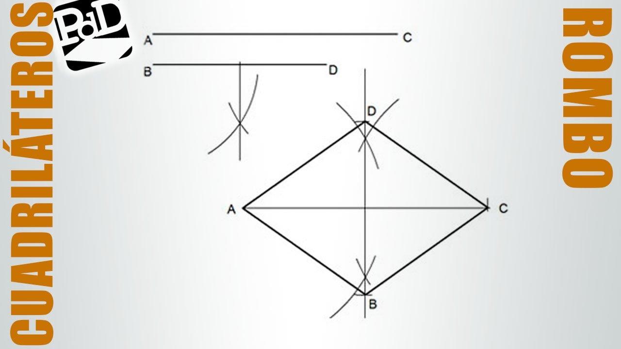 Trazar un rombo conociendo sus dos diagonales  YouTube