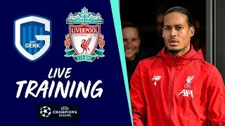 Live Pre-Champions League training from Melwood | Genk vs Liverpool