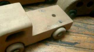 Assorted Wooden Toy Cars