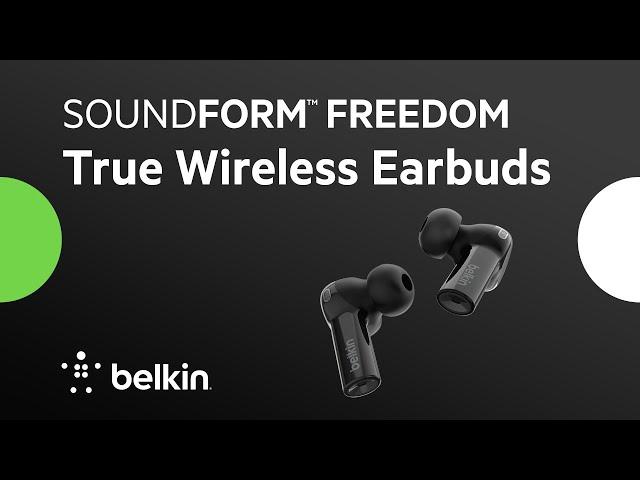 Introducing SOUNDFORM Freedom True Wireless Earbuds