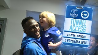 YERRY MINA GATECRASHES MAN OF THE MATCH! | TUNNEL ACCESS: EVERTON V BRIGHTON & HOVE ALBION