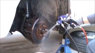 Brakes cleaning without expensive aerosols