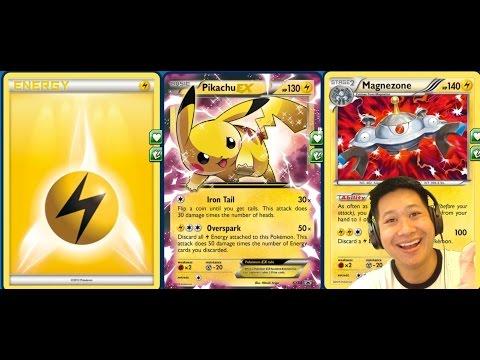 New Standard Pikachu Ex Deck, Electrifying 1 HIT KOs, Lightning Fast Energies