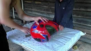 як зробити скло для шолома