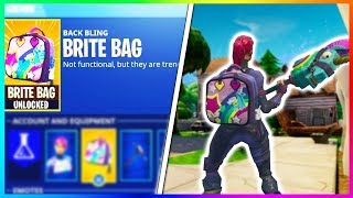 "How to Get the ""BRITE BAG"" in FORTNITE! NEW Brite Bag Gameplay in Fortnite! (Fortnite Battle Royale)"