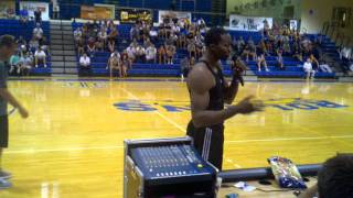 Dwight Howard speaking at Rollins College
