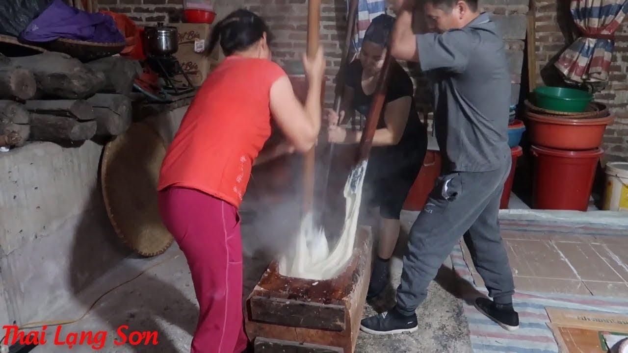 TÌM HIỂU CÁCH LÀM BÁNH PẺNG KHUA (BÁNH PHỒNG) chỉ làm vào dịp giáp tết I Thai Lạng Sơn