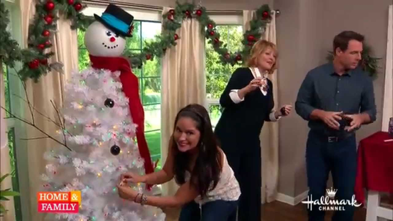 tanya memme diy how to make a snowman tree youtube