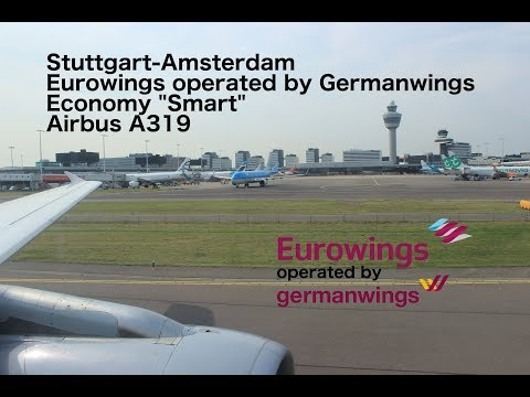 "Flight Report: Stuttgart-Amsterdam Eurowings Economy ""Smart"" Airbus  A319"