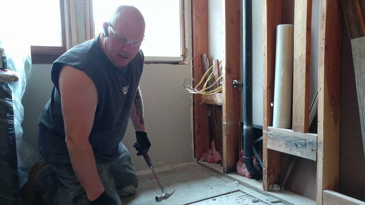 Removing ceramic floor tile youtube removing ceramic floor tile dailygadgetfo Choice Image
