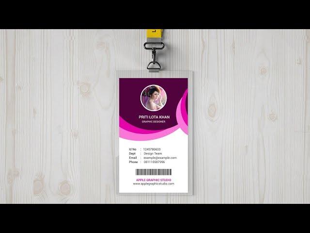 Creative ID Card Design - Photoshop Tutorial