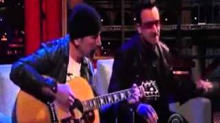 Bono & The Edge - Stuck In A Moment At The Late Show 2011