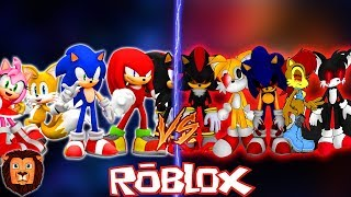 TEAM SONIC VS TEAM SONIC. EXE IN ROBLOX ? EPIC BATTLE OF CHARACTERS IN ROBLOX LEON PICARON