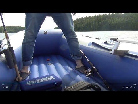 рыбалка на лодке с надувным дном