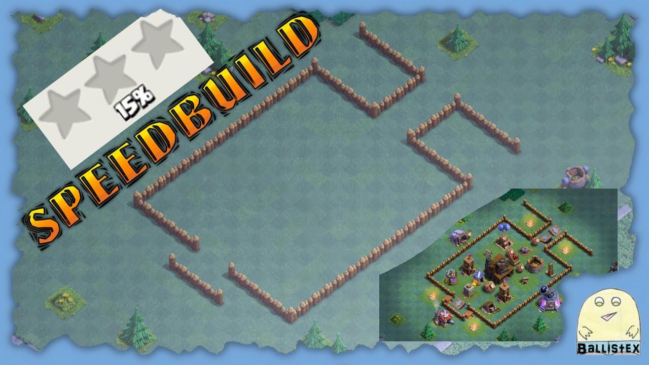 Clash Of Clans Bauarbeiterbasis Meisterhutte 4 Speedbuild Jede
