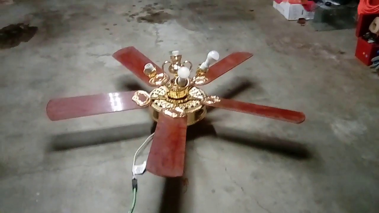 52 Hampton Bay St Claire Ceiling Fan With Light