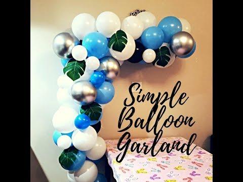 Simple and Easy steps to make Balloon Garland using Balloon Strips | DIY Balloon Tutorial