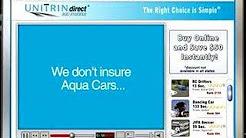Unitrin Direct Auto Insurance Aqua Car