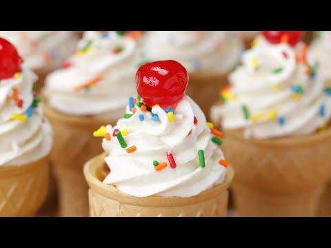 Download Youtube: Neapolitan Ice Cream Cone Cupcakes