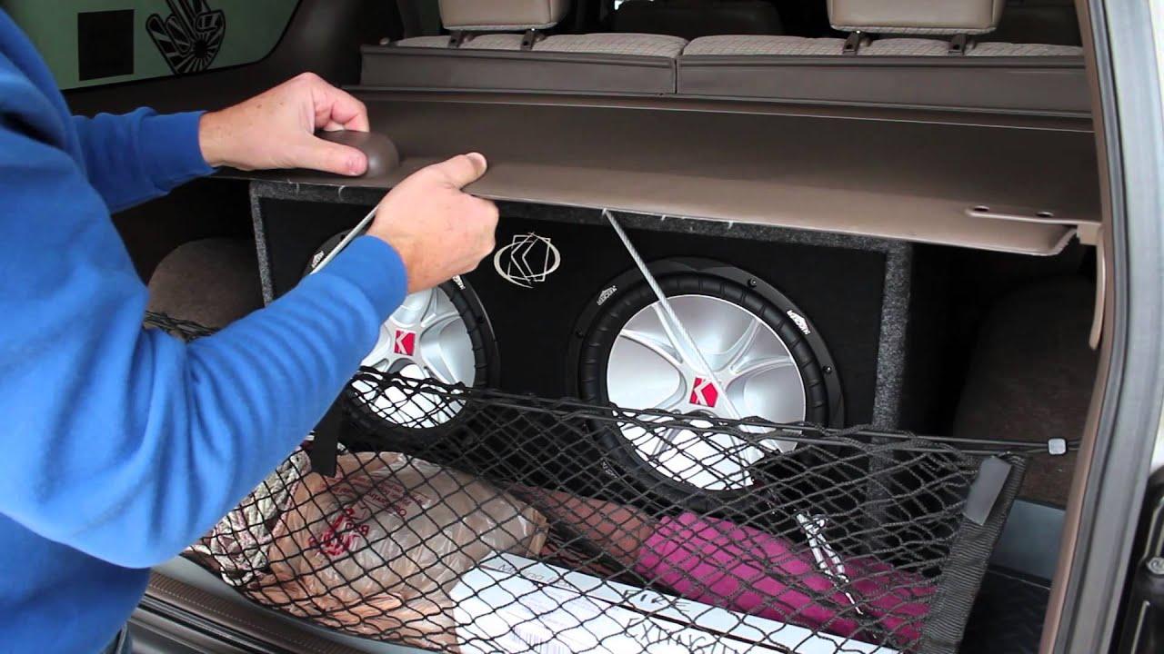 Custom Toyota 4runner >> Kicker 07DCVR122 Comp VR 12 Subwoofer Installation in a 1997 Toyota 4Runner - YouTube