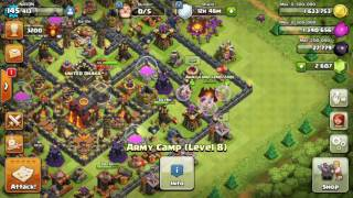 TH10 MAX OUT BASE 3 STAR BY LVL 1 BOWLER ATTACK