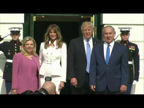 Amid crisis at home, Trump makes first trip abroad