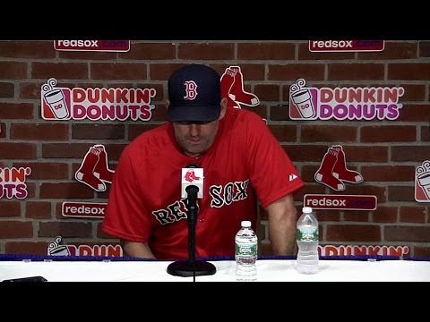 SEA@BOS: Lovullo discusses emotional day, 15-1 win
