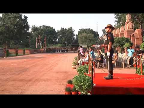Ceremonial change of guard at Rastrapati Bhawan