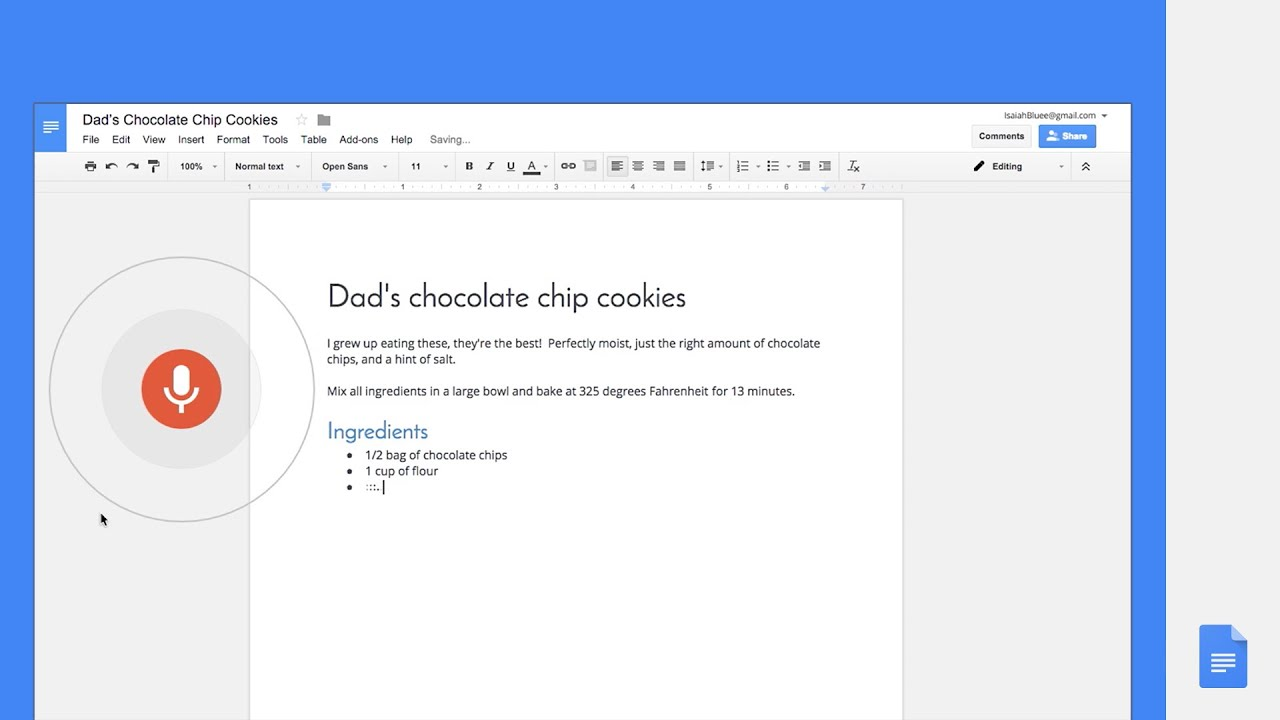 Google Docs: Type, Edit And Format With Your Voice In Docs—no Keyboard