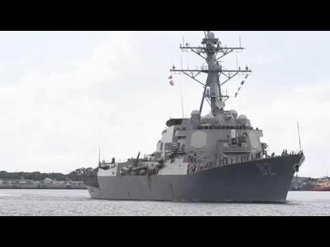 B-ROLL: Ships Depart Naval Station Mayport, Fla. Ahead Of Hurricane Dorian