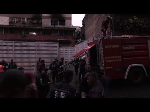 Police patrol explosion site after bang interrupts Maduro speech